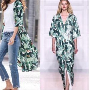 Rachel Zoe Palm Kimono Duster